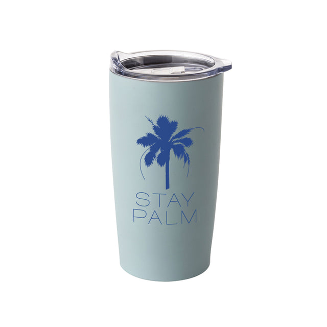 French Riviera Stay Palm Tumbler - Blue