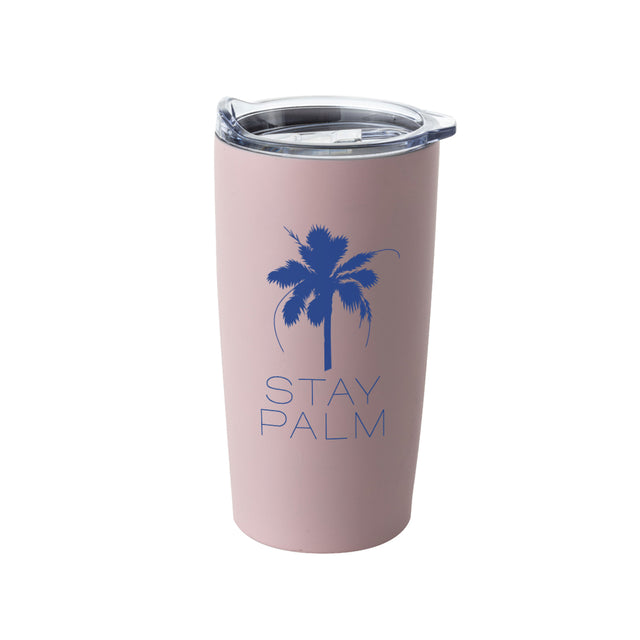 French Riviera Stay Palm Tumbler - Pink