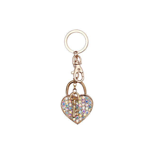 Heart Locket Charm Keyring
