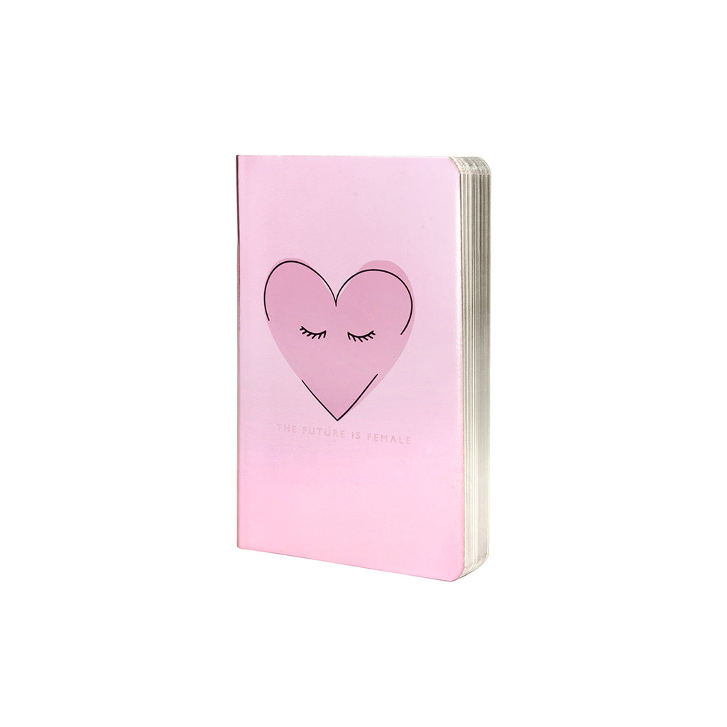 Heart Print Metallic A6 Notebook