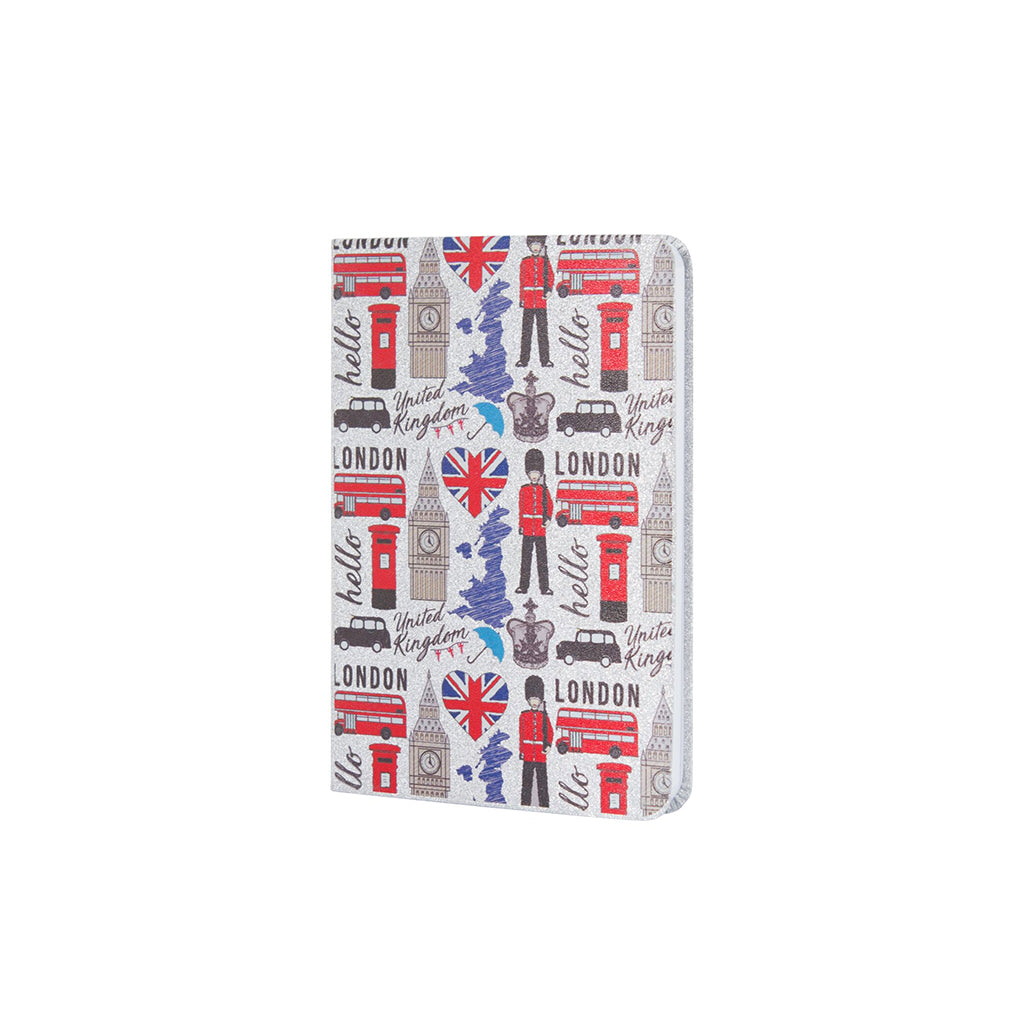 Hello London Silver Glitter A6 Notebook