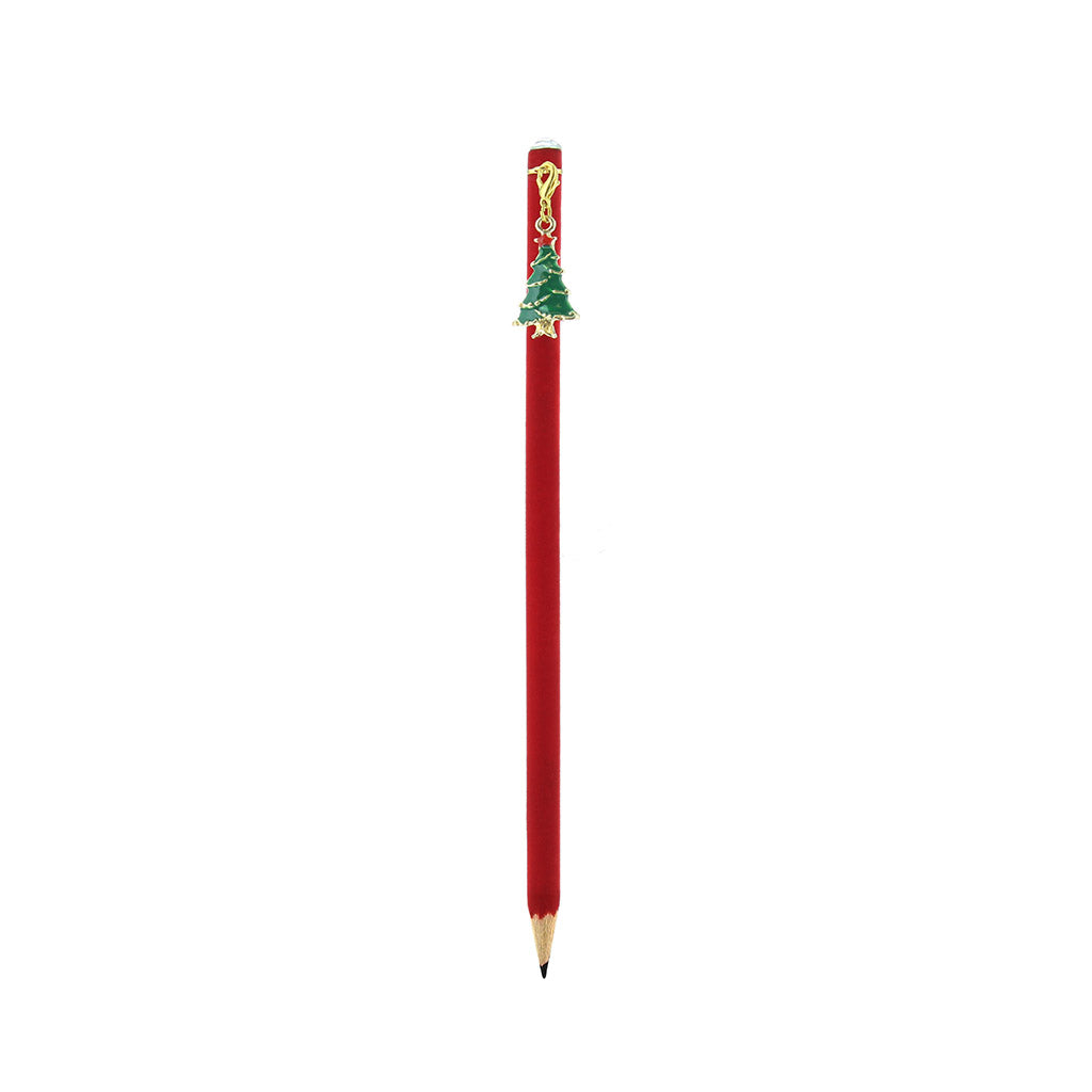 Velvet Christmas Pencil - Tree