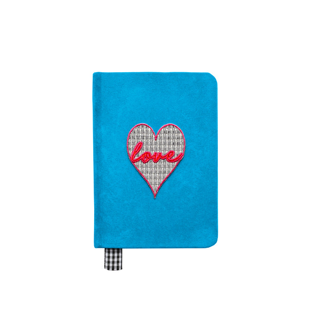 """Love"" Velvet A6 Notebook"