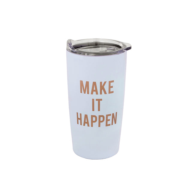 Make It Happen Tumbler - Light Blue