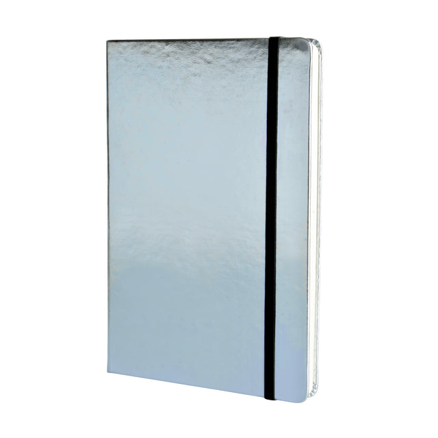 Metallic A5 Notebook - Light Blue