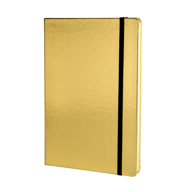Metallic A5 Notebook - Gold