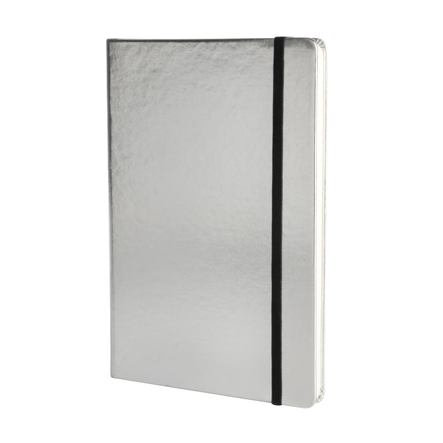 Metallic A5 Notebook - Silver