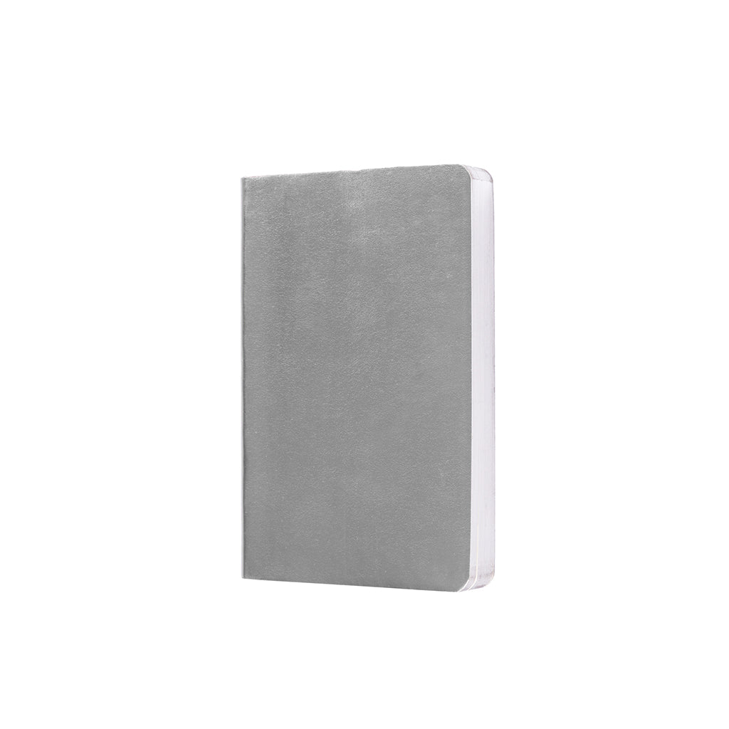 Metallic A6 Notebook - Silver