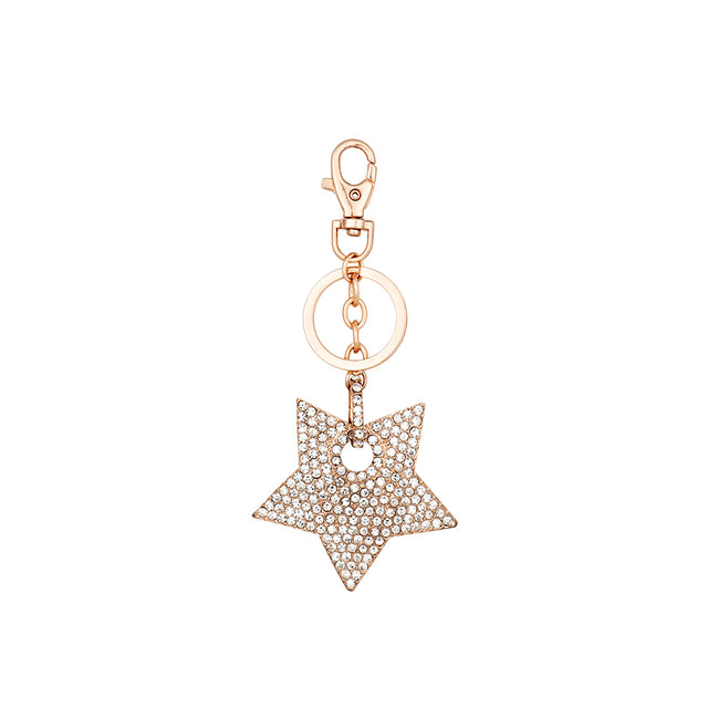 Star Charm Keyring - Rose Gold