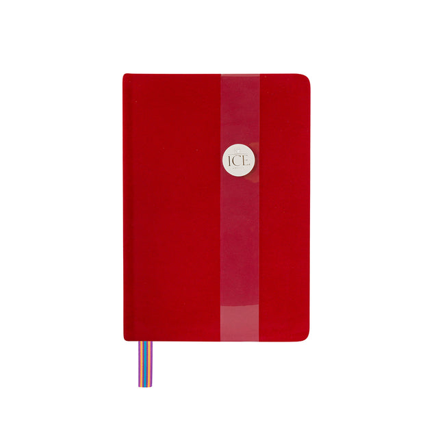 Royal Velvet Notebook - Red