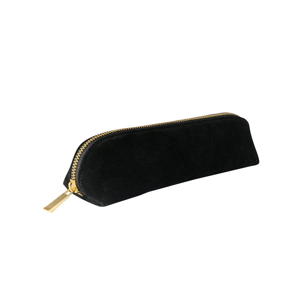 Velvet Pencil Case - Black