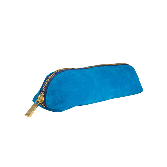 Velvet Pencil Case - Bright Blue