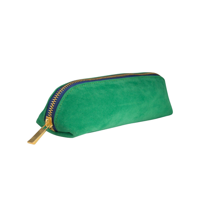 Velvet Pencil Case - Bright Green