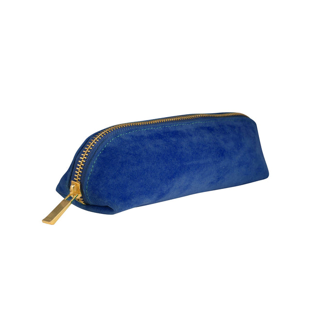 Velvet Pencil Case - Navy