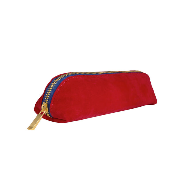 Velvet Pencil Case - Red