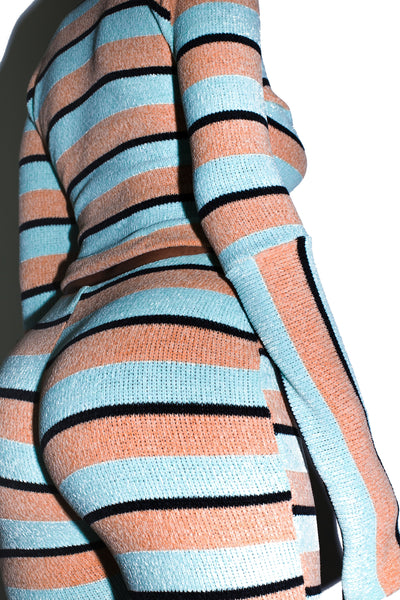 KLOUD9 Chenille Co-Ord in Pastel Stripes
