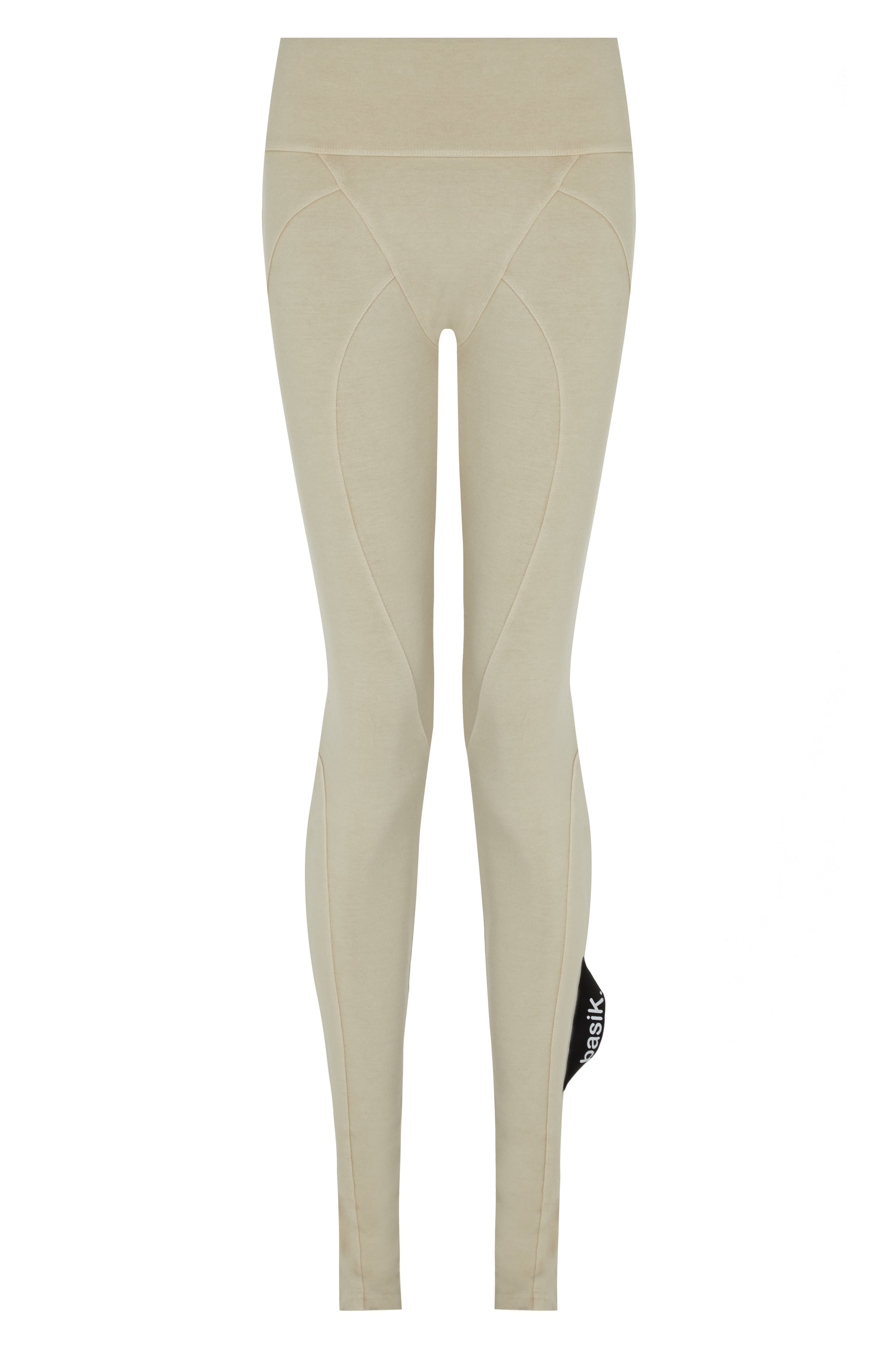 basiK• Multi-Panelled Leggings in Oatmeal