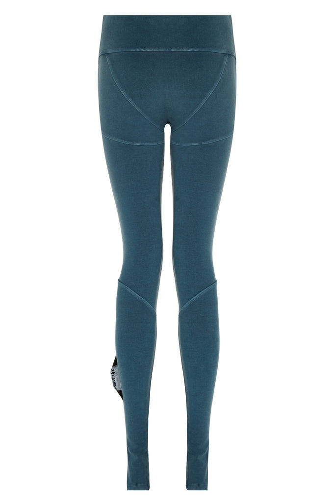 basiK• Multi-Panelled Leggings in Petrol