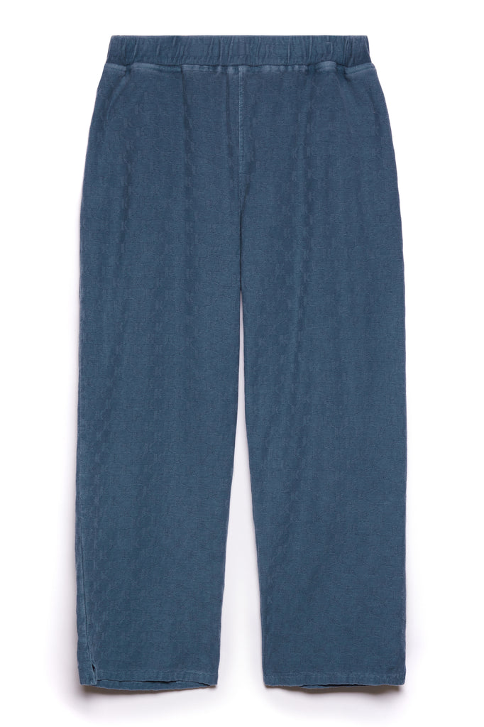 KOTTONS Stamped Wide-Leg Joggers in Denim Blue
