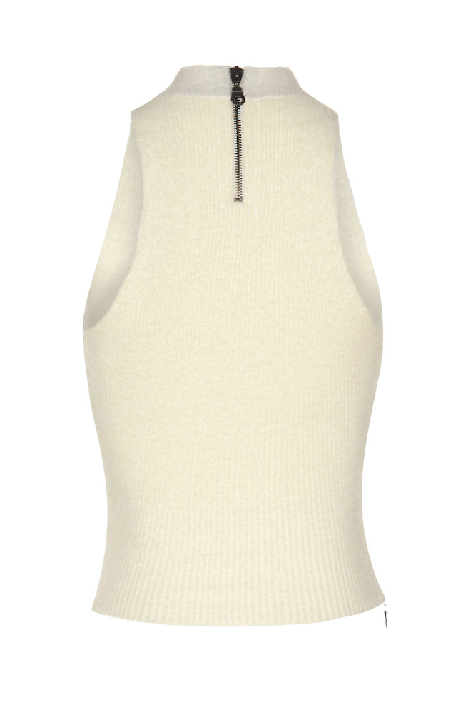 PHUZZ Mohair Rib Top in Ivory