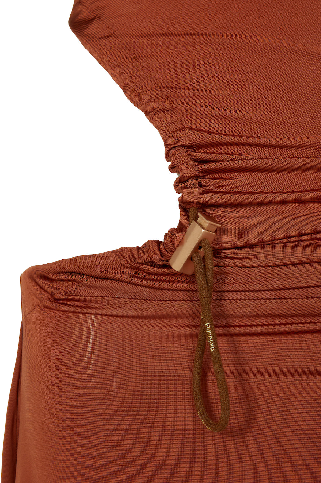 ACACIA Drawstring Cut-away Dress in Liquid Bronze