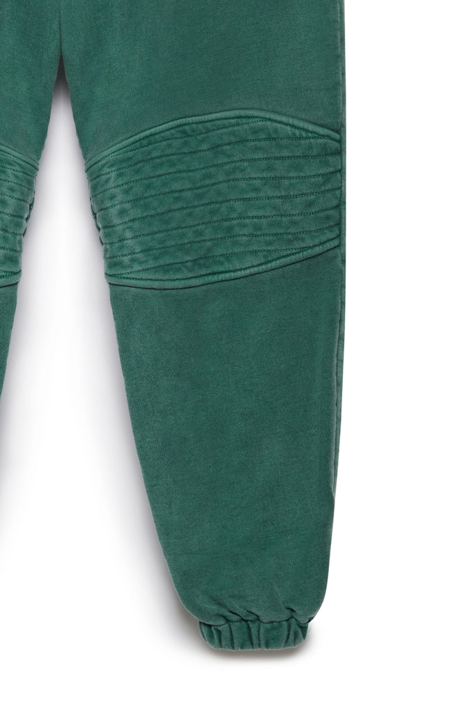 TONIK Slouch Panelled Joggers in Eden Green