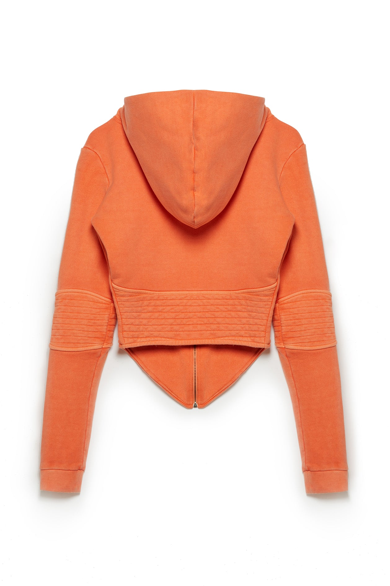 TONIK Corset Hoodie in Orange Soda