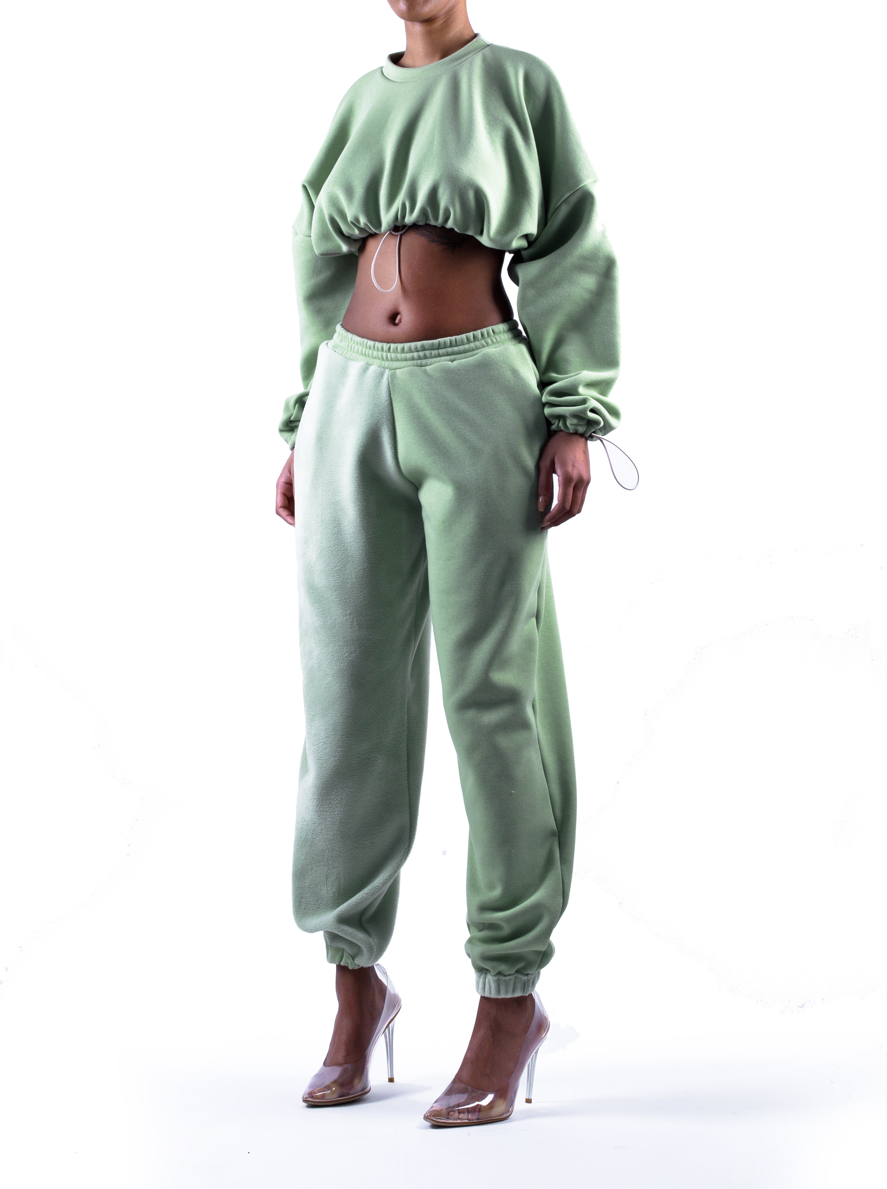 MATCHA Panelled Sweat Pants in Pistachio