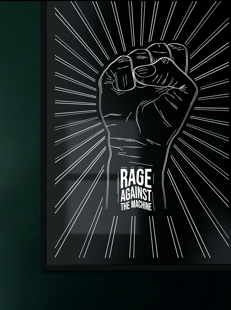 Rage Fist - Print by MOOD