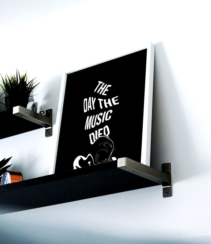 The Day The Music Died - Print by MOOD