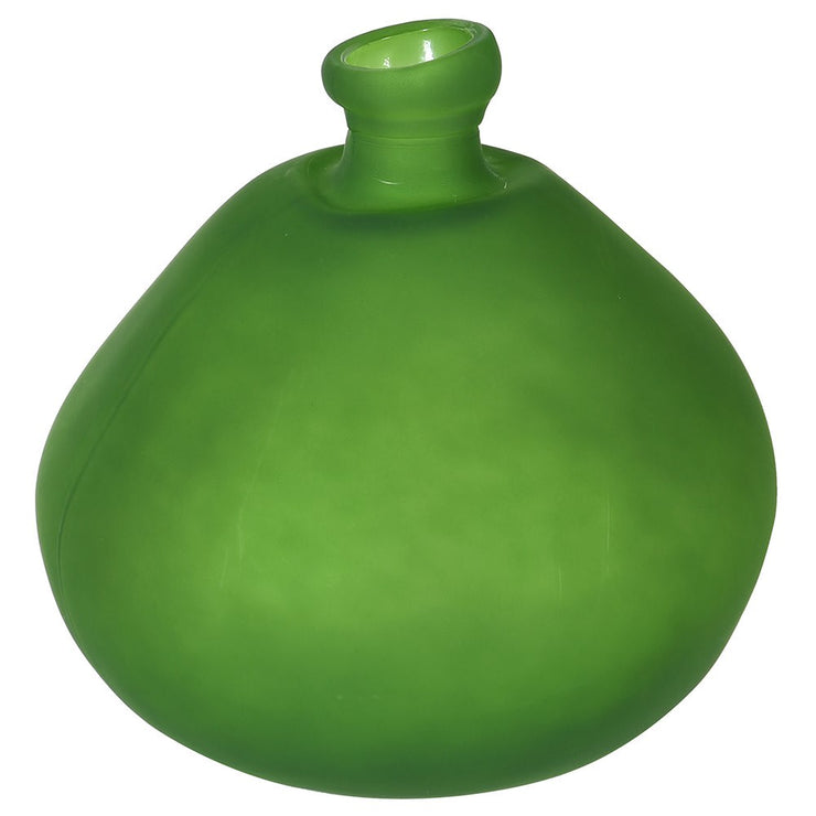 Beautiful Frosted Green Bottle Vase