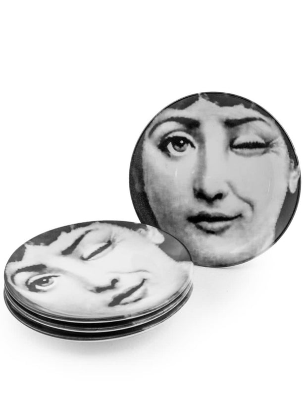 Winking Lady Ceramic Plate
