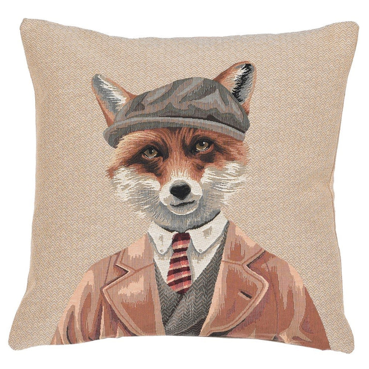 Fox in Tweed Luxury Cushion Cover
