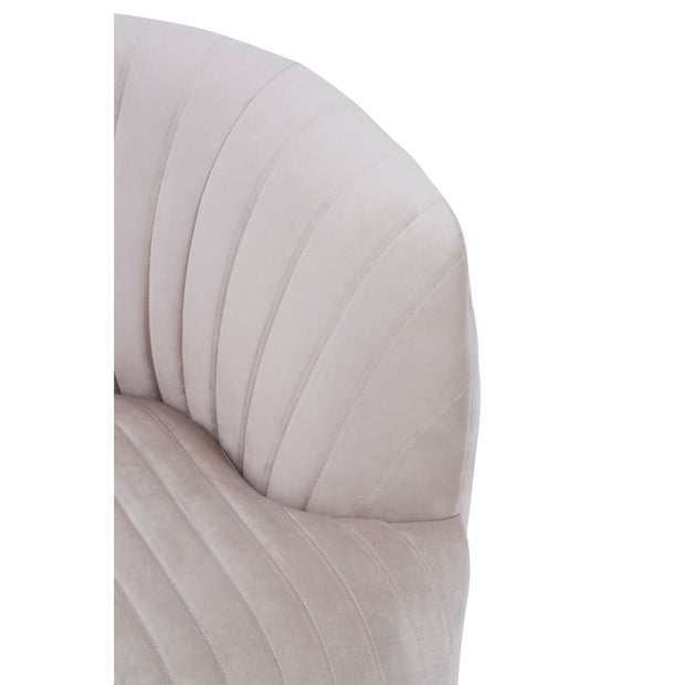 The Monroe Mink Velvet Chair