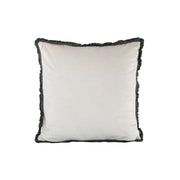 White Velvet Lion Cushion with Fringe