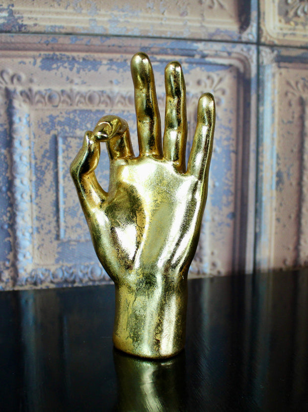 OK Gold Hand Ornament