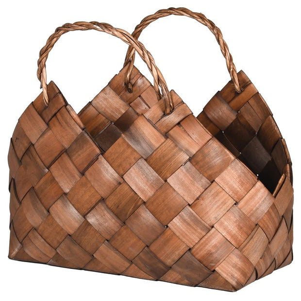 Large Metasequoia Woven Effect Basket with Handles