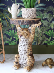 Leopard Side Table
