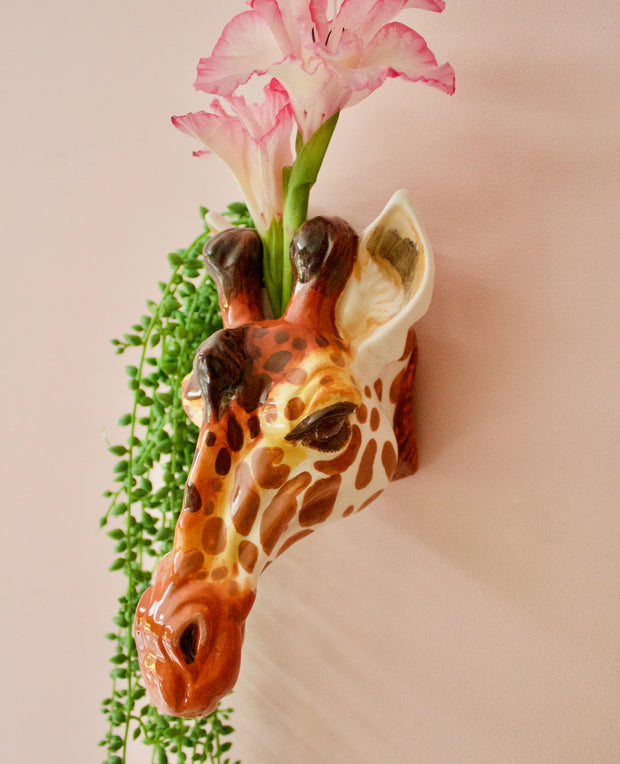 Giraffe Head Wall Sconce