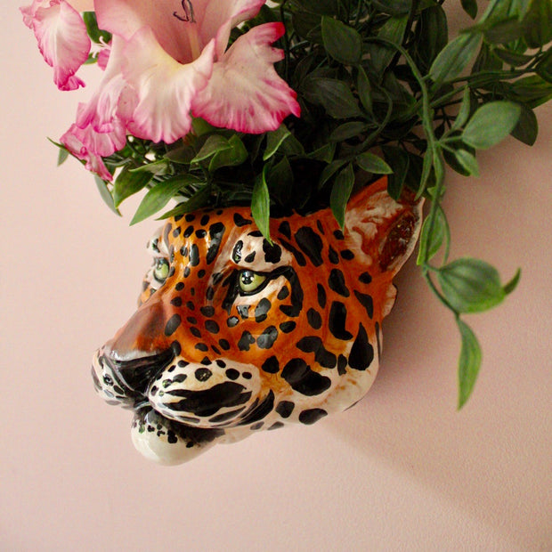 Leopard Head Wall Sconce