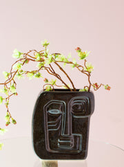 Retro Black Face Vase
