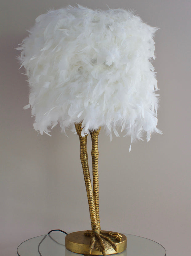 Ruffled Feather Birds Leg Table Lamp