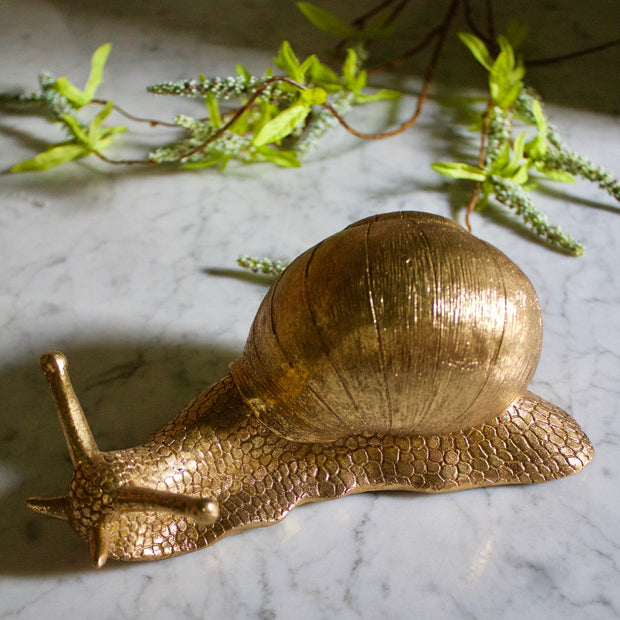 Giant Golden Snail Decor