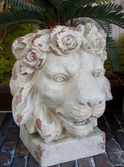 Fabulous Rustic Lion Planter