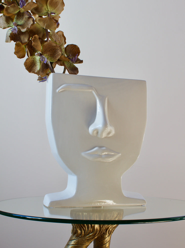 Male Ceramic Face Vase