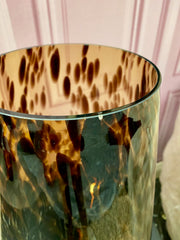 Tropical Leaf Mirrored Shelf