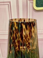 Tortoiseshell Glass Vase with Gold Accent - Medium (SECOND)