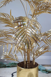 Decadent Artificial Gold Palm Tree