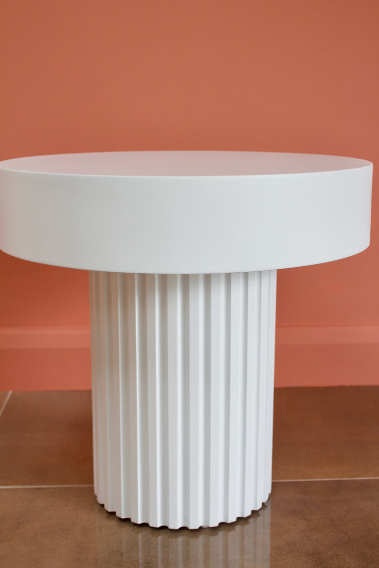 Greek Pillar White Coffee Table