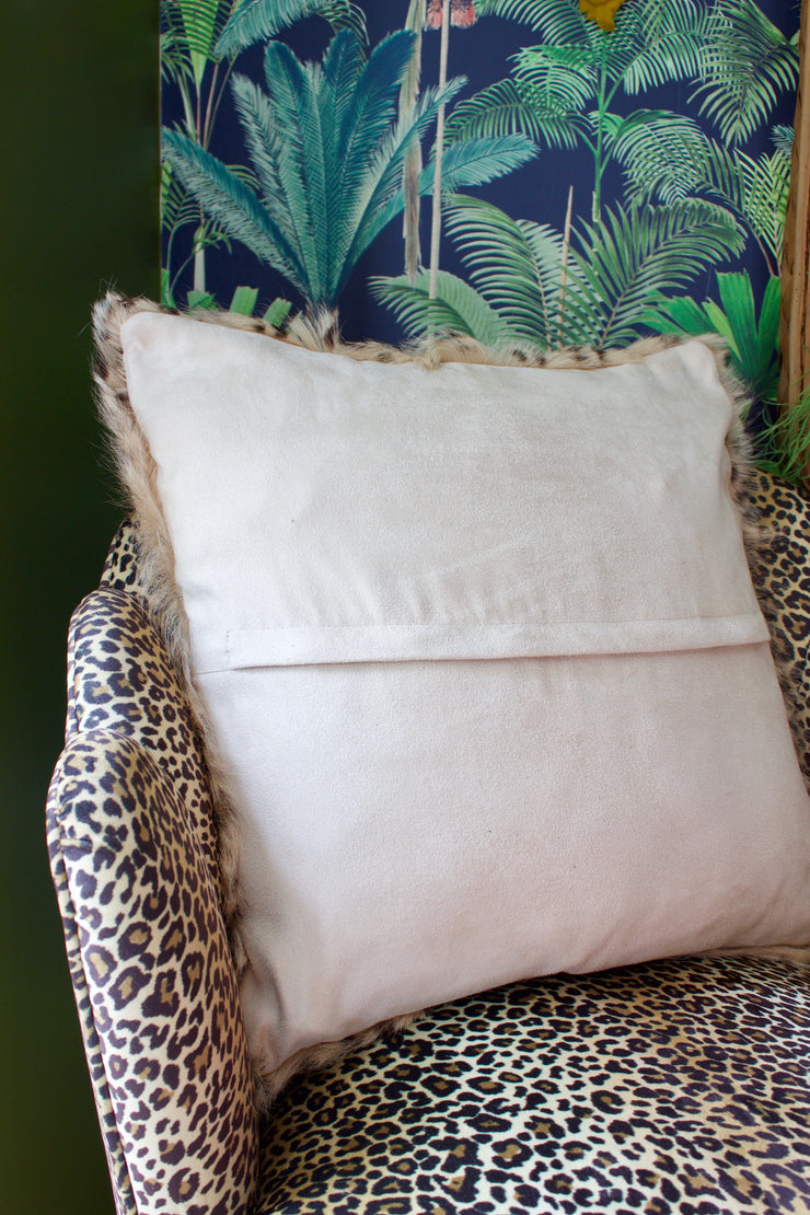 Lovely Leopard Goat Fur Cushion